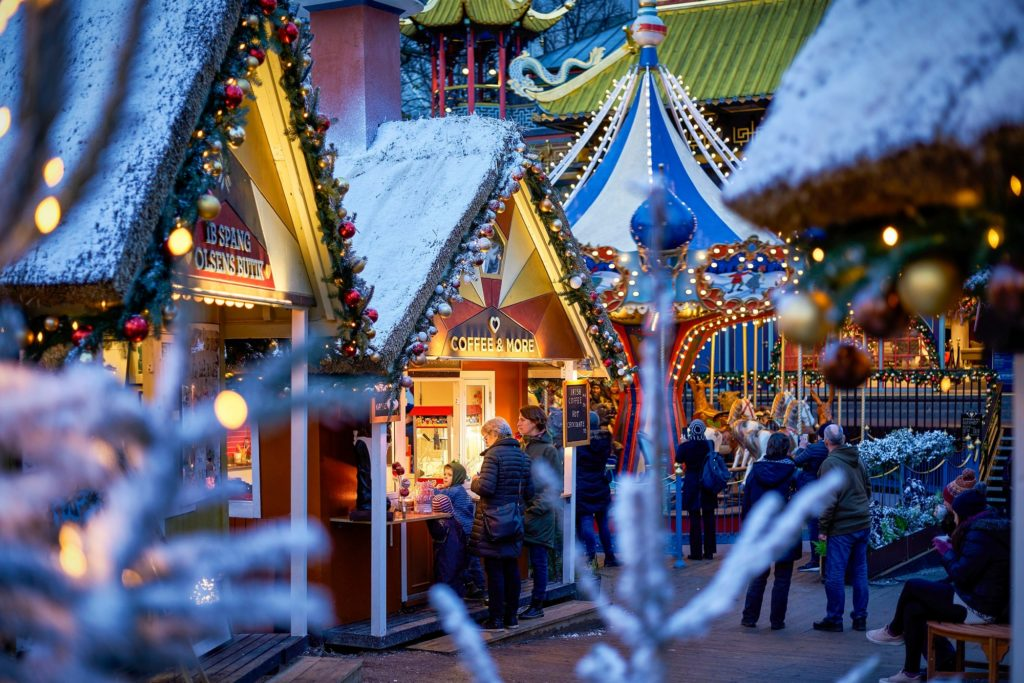 Explore a glittering historic garden filled with the spirit of Christmas.